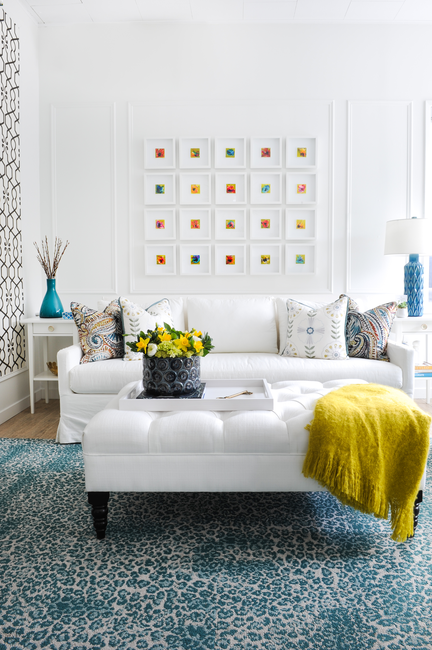 Simply-Home-Decorating_Boutique-Design-Studio_North-Vancouver-B.C._Colourful-Modern-Living-Room_Gallery-Wall-and-Accessories