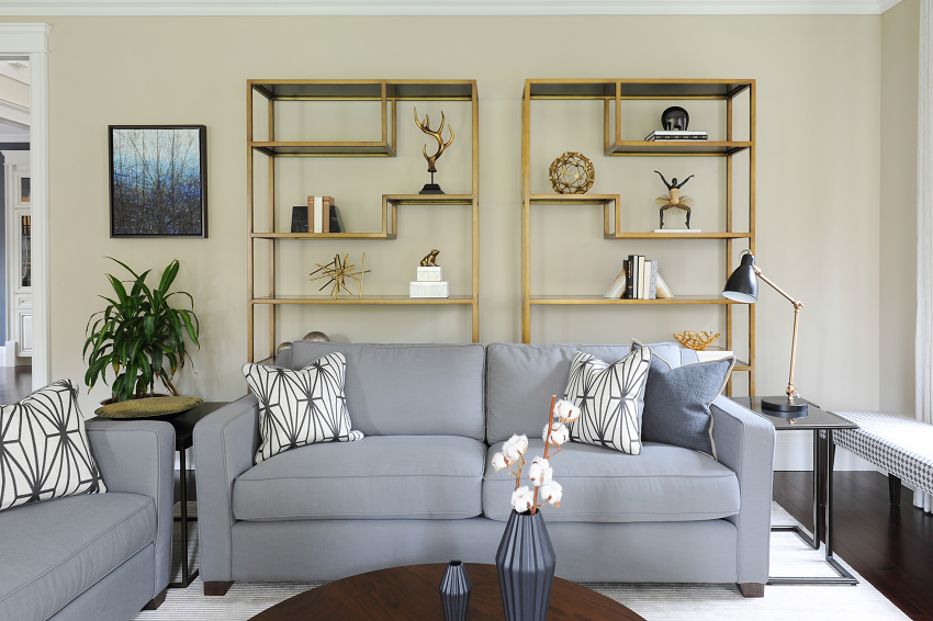 Simply-Home-Decorating_Boutique-Design-Studio_North-Vancouver-B.C._How-to-Style-Bookshelves-Like-a-Pro-in-5-Simple-Steps_Living-Room-Shelves_Sofa-and-Coffee-Table