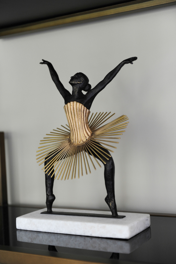 simply home decorating north vancouver gold and black ballerina figurine