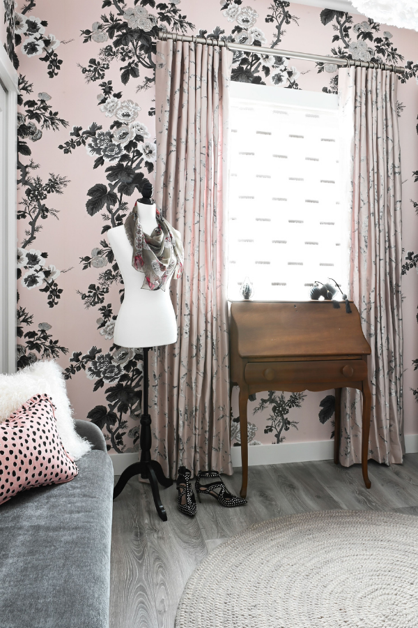 simply-home-decorating-east-vancouver-bc-decorate-with-personality-patterned-wallpaper-bust-with-scarf