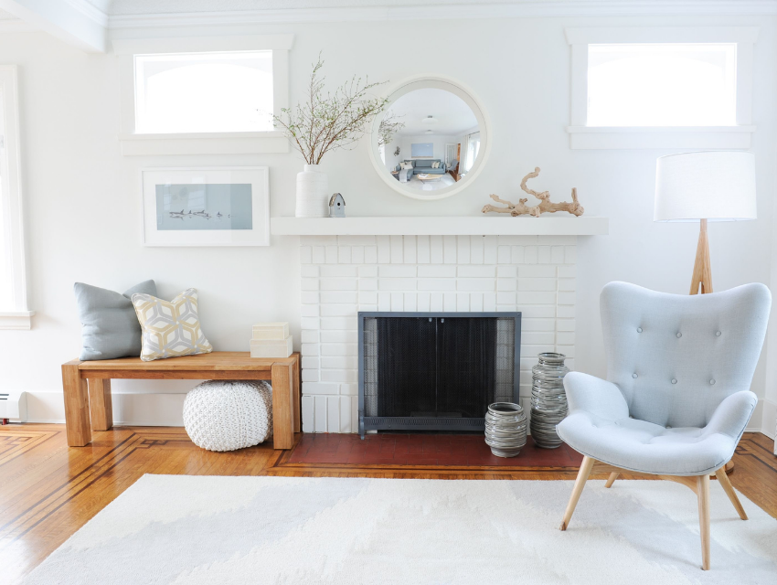simply-home-decorating-north-vancouver-child-friendly-home-adults-love-white-brick-fire-place-modern-furnature-bench-light-blye-accent