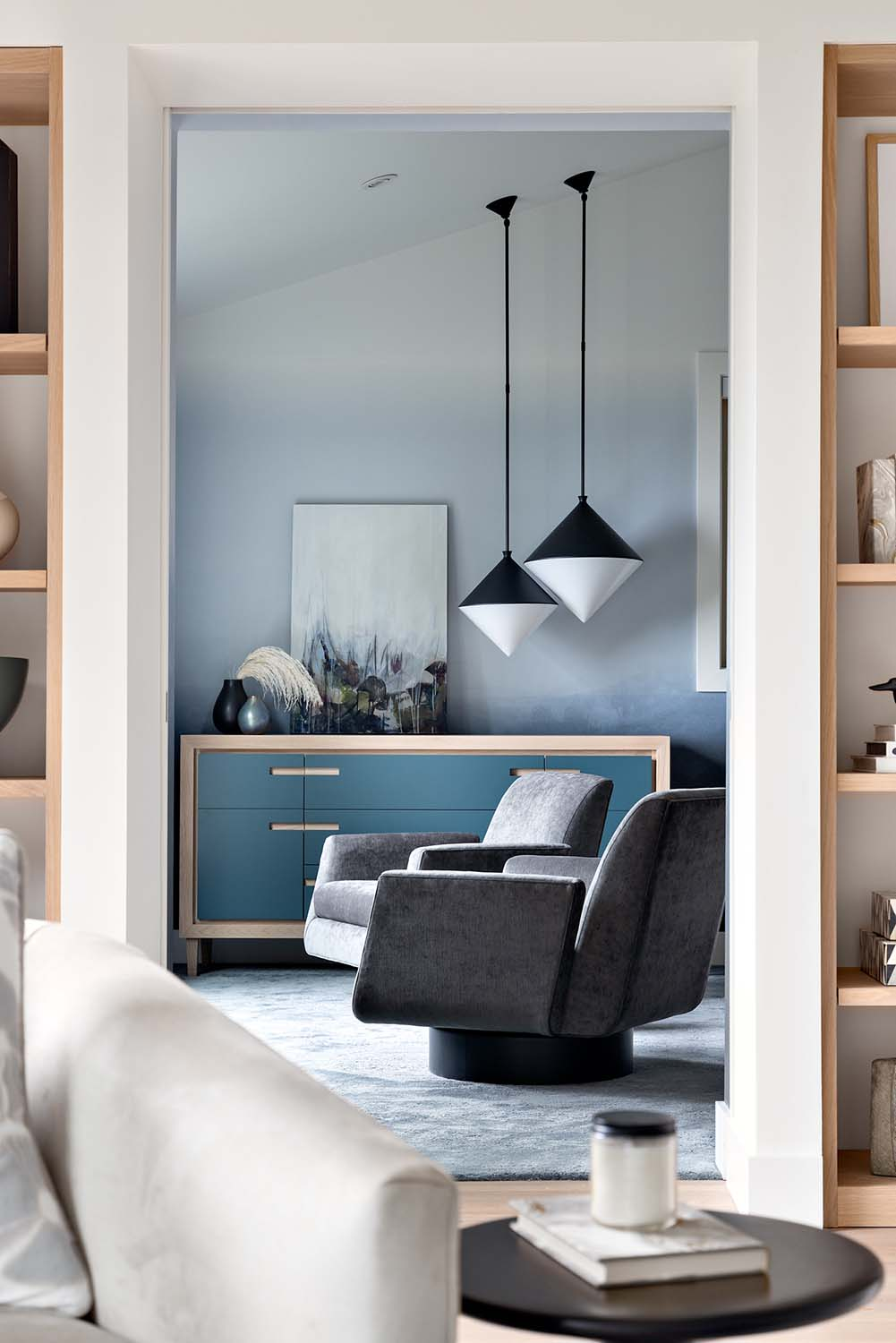 Lions Bay Post and Beam Vancouver Interior Design by Simply Home Decorating