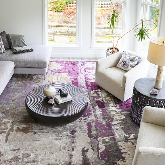 Simply-Home-Decorating_Lori-Steeves_Vancouver-BC_Canadian-Designer_What-You-Need-to-Know-About-Designing-a-Home-that-Helps-You-Destress_Purple-and-Grey-Light-and-Airy-Living-Room